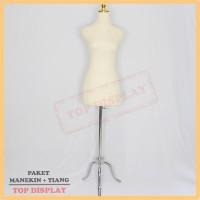 Harga manekin kain krem kaki besi manekin jahit patung baju | Pembandingharga.com