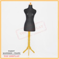 Harga manekin kain hitam kaki besi manekin jahit patung baju | Pembandingharga.com