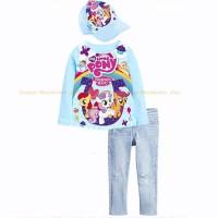 Setelan Anak Perempuan | My Little Pony Tshirt Jeans Set - SE1804