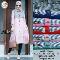 Harga fashion wanita baju atasan belle tunik | antitipu.com