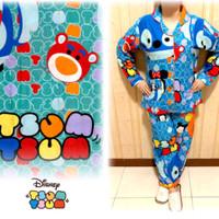 Harga baju tidur piyama stitch tsum redi warna hijau tosca last | Hargalu.com