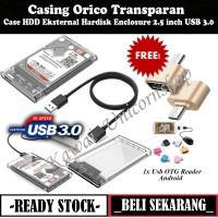Case HDD Eksternal Casing Orico Transparan Hardisk Enclosure USB 3.0