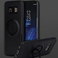 Samsung Galaxy S8 I-zore Magnetic Ring Hard Soft Case Cover Casing