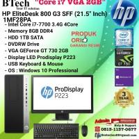 HP EliteDesk 800 G3 SFF - 1MF28PA Core i7-7700/8GB/1TB/DVDRW/W10/3YR