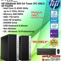 HP EliteDesk 800 G4 TOWER - 5FT02PA Core i5-8500/4GB/1TB/W10 PC ONLY
