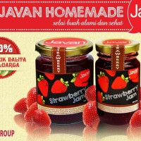 Javan Homemade - Strawberry Jam 120 gr, selai buah roti sehat