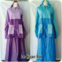 Harga jas hujan rok baju jaket hujan wanita muslimah rain  d5415cbc32