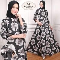 Maxi Intan Flower 06 Baju Muslim Wanita Gamis Model Kekinian Terbaru