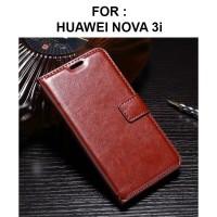 FLIP COVER WALLET case Huawei Nova 3i casing hp leather dompet kulit