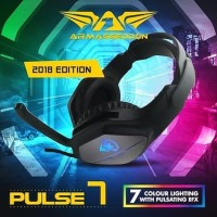 Headphone Headshet Gaming Armaggeddon Pulse 7 With 7 LED Color Effect