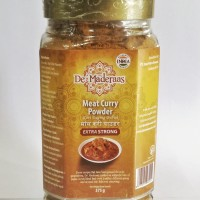 De' Maderaas Meat Curry Powder Extra Strong Glass Jar 375gr