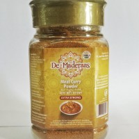 De' Maderaas Meat Curry Powder Extra Strong Glass Jar 200gr