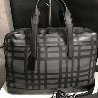 Tas Cowok Coach Original Men Hamilton Briefcase Laptop Bag Black Plaid a7a152cc6e
