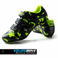 PREMIUM Sepatu sepeda balap cleat ROADBIKE MTB TIEBAO Army Look Black