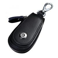 Hitam-Dompet Kulit Gantungan Kunci Mobil-YSB-010