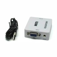 Mini Vga to HDMI full hd 1080p converter audio adapter for pc laptop