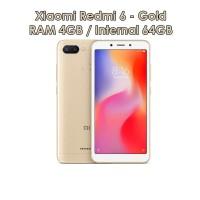 Xiaomi Redmi 6 4/64 GOLD Ram 4GB Internal 64 Garansi Distributor