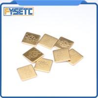 20 Pcs/Pack 12mmx12mmx1mm Thermal Pad Barrier Pure Copper Heatsink Shi