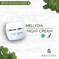 Produk Kecantikan Mellydia Skincare Night Cream untuk Nutrisi Kulit