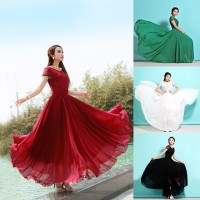 Long Dress Maxi Bahan Sifon untuk Pesta Prom Murah