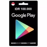 Playstore physical voucher IDR 100.000