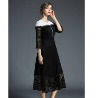 Long Dress Patchwork Renda untuk Pesta / Musim Semi, s2 Limited
