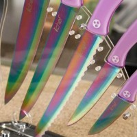 Pisau Set Pisau Dapur Ichef Titanium Coating Knife Murah