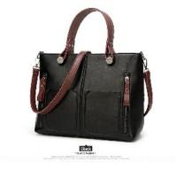 Harga promo tas import kulit leather tote bag wanita european ameri | Pembandingharga.com