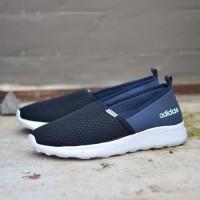 Sepatu Adidas ORIGINAL Cloudfoam Slip On Navy Black