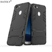 Case Oppo F5 / F5 Youth Ironman Hybrid With Kick Stand - Hitam