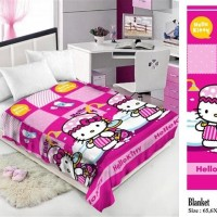 Selimut Charlie / Halus Lembut High Quality / Hello Kitty Shower