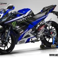 Decal Stiker R15 V3 Yamaha Grave Superbike Livery Blue
