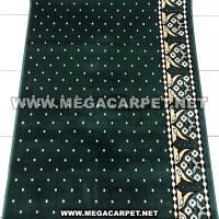 Sajadah Roll / Karpet Masjid / Karpet Mushola [Bintik Hijau]