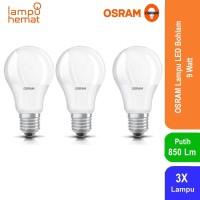 Osram Lampu Bohlam LED Bulb 9 Watt 3 Pcs - Putih
