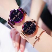 Jam tangan wanita murah Reloj Luxury Ladies Star Sky Watch Rose Gold W