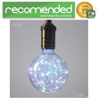 Lampu Bohlam Dekorasi RGB LED Bulb String E27 1.8W - G95 - Transparan