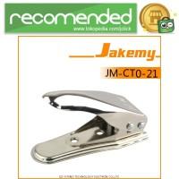 Jakemy 2 in 1 Universal Micro and Nano SIM Card Cutter - Hitam