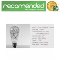 Lampu Bohlam Dekorasi RGB LED Bulb String E27 1.6W - ST64 - Biru