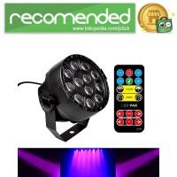 Lampu Sorot LED RGB Dekorasi Ruangan dengan Remote Control - HY-W0712