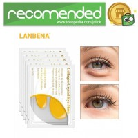 LANBENA Masker Mata Collagen 24K Gold Eye Mask 5 PCS - Kuning