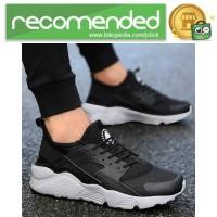 Sepatu Sneaker Huarache NMD EQT Sporty - 37 - Hitam