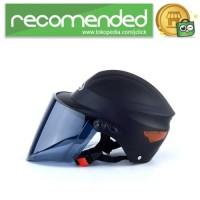 Wanli Helm Sepeda Skuter Motor Elektrik Half Face - Hitam