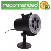 Lampu Sorot LED Dekorasi Change Card RGB 12 Pattern Remote Control -