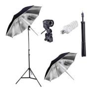 Paket Studio Light Stand + Singel lamp + Payung Silver + CFL 45W 5500K