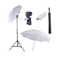 Paket Studio Light Stand + Singel lamp + Payung Putih + CFL 45W 5500K