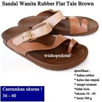 Sendal flip Wanita Flat Tale BROWN