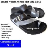 Sendal flip Wanita Flat Tale BLACK