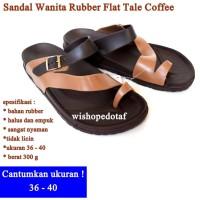 Sendal flip Wanita Flat Tale DARK RBOWN
