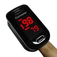 Alat Pengukur Detak Jantung Fingertip Pulse Oximeter - warna BIRU