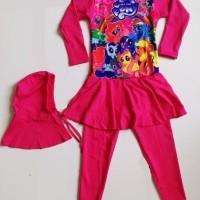 Jual NEW RNKD33 - Baju Renang Anak Muslim Little Pony Pink T Limited